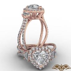 Heart diamond  Ring in 14k Rose Gold