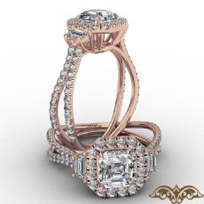 Asscher diamond  Ring in 14k Rose Gold