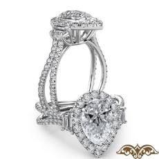 Pear diamond  Ring in Platinum 950