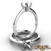 <Gram> Round Classic Solitaire Engagement Diamond Semi Mount Ring 14k White Gold Setting - javda.com