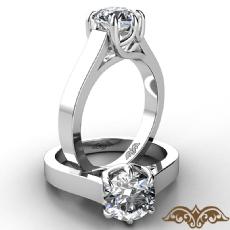 6 Prong Trellis Solitaire diamond Ring 14k Gold White