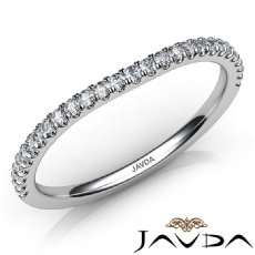Round Diamond Women's Wedding Band Matching Set 14k White Gold 2mm Ring 0.30Ct