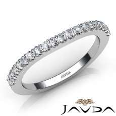 Prong Diamond Women's Wedding Band Matching Set 1.9mm Ring 14k White Gold 0.50Ct