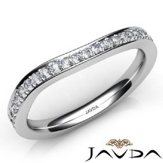 2.4mm Women's Wedding Band 14k White Gold Matching Set Round Diamond Ring 0.52Ct