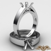 <gram> cathedral Engagement Ring Solitaire Classic Setting 14k White Gold 4.5m Semi Mount - javda.com