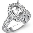 1.5Ct Diamond Engagement Ring Halo Pave Setting 14k Gold White Oval Semi Mount