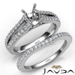 Prong Diamond Engagement Ring Oval Bridal Set 14k White Gold Semi Mount 1.1Ct - javda.com