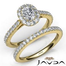 French V Cut Pave Bridal Cushion diamond engagement Ring in 14k Gold Yellow