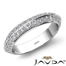 0.48Ct Round Diamond Half wedding Band Matching Set 14k White Gold