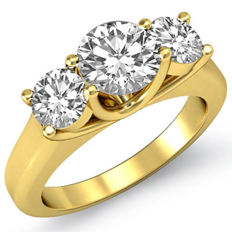 e5ebd055ad9 ... Diamond Engagement Ring 14k Yellow Gold (1.57ctw.)   . Original Image.  Orignal image