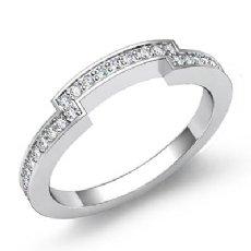 .50Ct Pave Diamond Custom Half Wedding Band 14k White Gold Ring