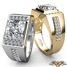 4 Prong Micro Pave Set Wedding Round diamond   in 14k Gold White