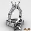 1Ct Diamond Solitaire Engagement Round Semi Mount Ring Setting 14k White Gold - javda.com