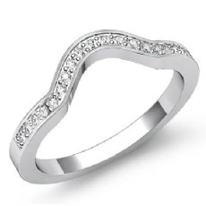 Round Diamond Women's Half Wedding Band Engagement Ring Platinum 950  (0.65Ct. tw.)