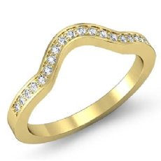 Round Diamond Women's Half Wedding Band Engagement Ring 18k Gold Yellow  (0.65Ct. tw.)