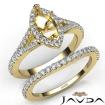U Prong Diamond Engagement Ring Marquise Semi Mount Bridal Set 18k Yellow Gold 0.82Ct - javda.com