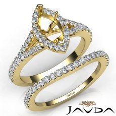 U Prong Diamond Engagement Ring Marquise Semi Mount Bridal Set 14k Gold Yellow  (0.82Ct. tw.)