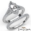U Prong Diamond Engagement Ring Marquise Semi Mount Bridal Set 14k White Gold 0.82Ct - javda.com