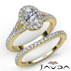 Hot Luxury Quality Bridal Set Oval diamond engagement Ring in 14k Gold Yellow