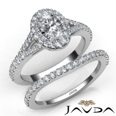 Hot Luxury Quality Bridal Set Oval diamond engagement Ring in 14k Gold White