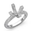 1.9Ct Diamond Eternity Style Engagement Setting Ring 14k White Gold Round Semi Mount - javda.com