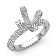 Diamond Eternity Style Engagement Setting Ring Platinum 950 Round Semi Mount (1.9Ct. tw.)