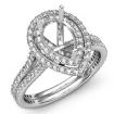 1.55Ct Engagement Ring Pear Shape Diamond Semi Mount 14k White Gold Halo Setting - javda.com