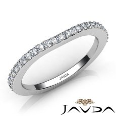 Women Engagement Wedding Band Prong Set Diamond 1.7mm Ring 14k White Gold 0.45Ct