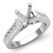 0.5Ct Round Diamond Engagement Ring Channel Setting 14k White Gold Semi Mount - javda.com