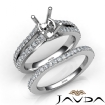 Split Shank Diamond Engagement Ring Round Bridal Set 14k White Gold Semi Mount 1.1Ct - javda.com