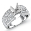 1Ct Princess Round Diamond Engagement Ring 14k White Gold Channel Setting Semi Mount - javda.com