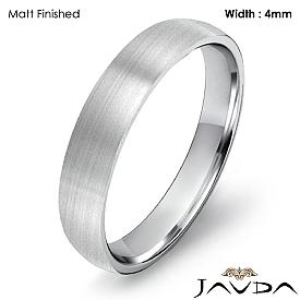 4mm Wedding Ring 14k White Gold Dome Shape Light Comfort Men Band 3.1g 4sz
