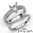 Diamond Engagement Ring Heart Semi Mount U Cut Bridal Set 14k White Gold 0.8Ct - javda.com