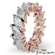 Women's Eternity Band Marquise Cut Prong Set Diamond Ring 14k Rose Gold  (5.3Ct. tw.)