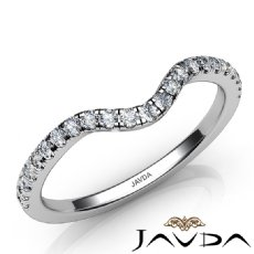 Round Diamond Women's Wedding Band Matching Set 14k White Gold 1.8mm Ring 0.30Ct