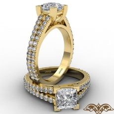 Princess diamond  Ring in 14k Gold Yellow