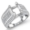 1.7Ct Round & Princess Diamond Engagement Invisible Setting Ring 14k White Gold - javda.com