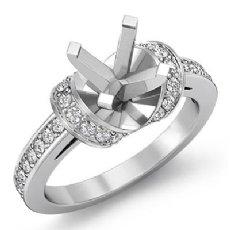 0.50Ct Antique Diamond Engagement Ring Round Semi Mount 14K White Gold Setting