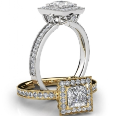 Princess diamond  Ring in Platinum 950