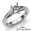 Pave Setting Diamond Engagement Pear Semi Mount Ring 14k White Gold 0.35Ct - javda.com
