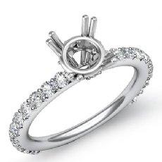 0.45Ct Round Diamond 4 Prong Engagement Ring Setting 14K White Gold Semi Mount