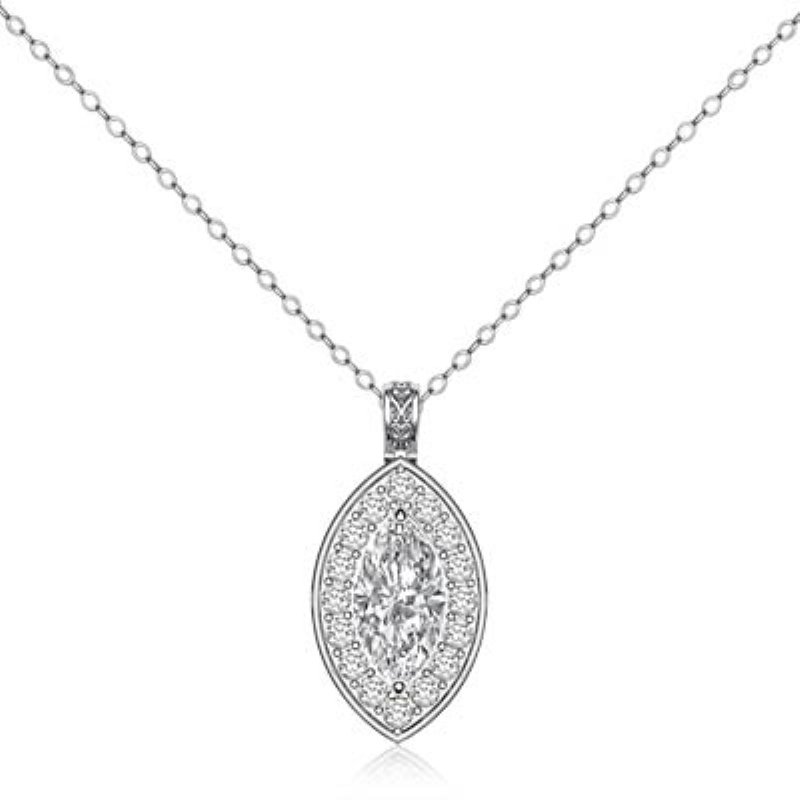 Circa style halo pave bale marquise diamond engagement pendant 14k circa style halo pave bale marquise diamond engagement pendant 14k white gold 123ctw mozeypictures Image collections