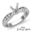 Round Diamond Engagement Ring Channel Setting 14k White Gold Wedding Band 0.31Ct - javda.com