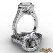 Halo Pave Setting Diamond Engagement Ring 14k White Gold Round Semi Mount 0.47Ct - javda.com