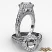 1.25Ct Halo Pave Setting Diamond Engagement Round Semi Mount Ring 14k White Gold - javda.com