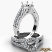 Halo Prong Round Diamond Gorgeous Engagement Semi Mount Ring 14k White Gold 0.75Ct - javda.com