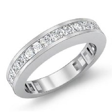 Princess Channel Diamond Wedding Band Womens Matching Ring Platinum 950  (1.5Ct. tw.)
