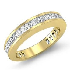 Princess Channel Diamond Wedding Band Womens Matching Ring 14k Gold Yellow  (1.5Ct. tw.)