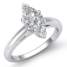 Classic Solitaire Prong Set Marquise diamond engagement Ring in 14k Gold White