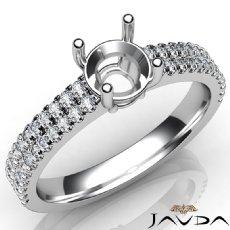 U Shape Prong Setting Diamond Engagement Round Semi Mount Ring 14K W Gold 0.50Ct